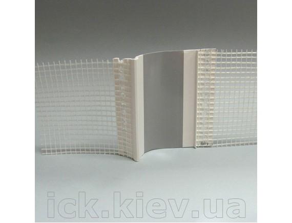 Профиль ПВХ дилатационной угловой сеткой 2 м