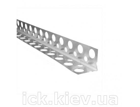 Уголок Галич Профиль перфорированный алюминиевый 3 м 0,4 мм ширина 60 мм