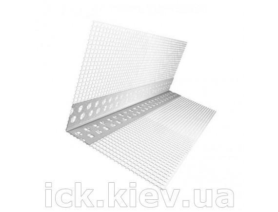Уголок перфорированный алюминиевый со стеклосеткой 3,0 м ширина 36 мм Галич Профиль