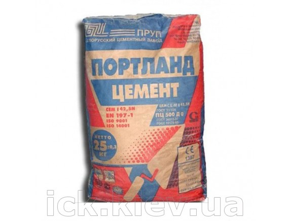 Цемент Белорусский ПЦ М-500-Д0 ЦБК 25 кг