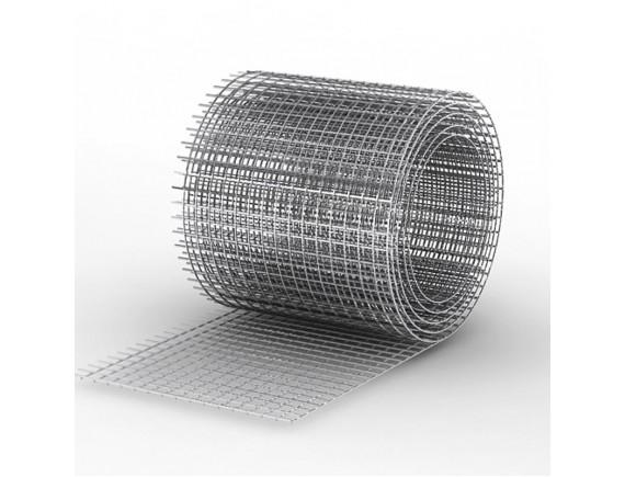 Сетка сварная штукатурная оцинкованная 12x25x0,65 мм 1x30 м