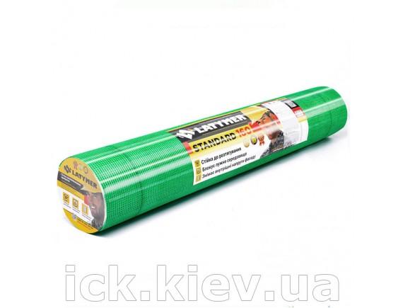 Сетка стекловолоконная LATYMER STANDARD 160 5х5 1м х 10 м зеленая