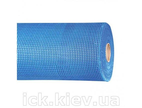 Сетка стекловолоконная FIBERGLASS 145 г/кв.м. Синяя 50 м2