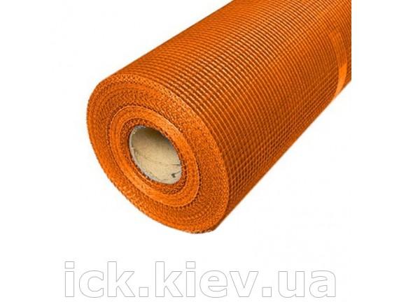Сетка стекловолоконная FIBERGLASS 160 г/кв.м. оранжевая 50 м2
