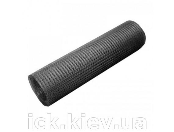 Сетка сварная черная Имиджкомплект 12x12 1,0x30 0,56-0,58 мм