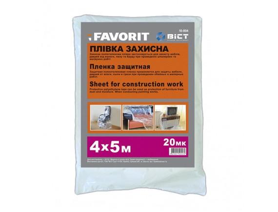 Пленка защитная малярная Favorit Standart Plus 4мх5м 20 мкр