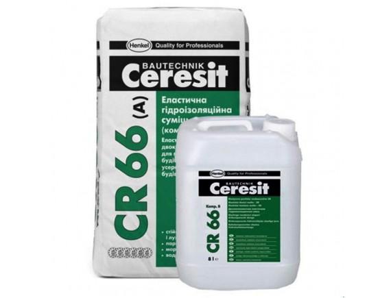 Эластичная двухкомпонентная гидроизоляционная смесь Ceresit СR-66 25 кг
