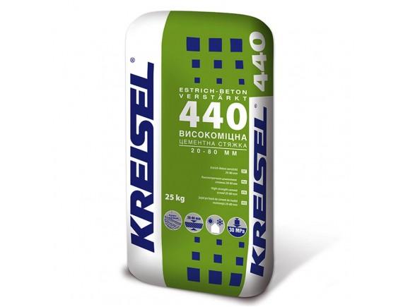Высокопрочная цементная стяжка Kreisel 440 Estrich-beton 25 кг (20-80 мм)