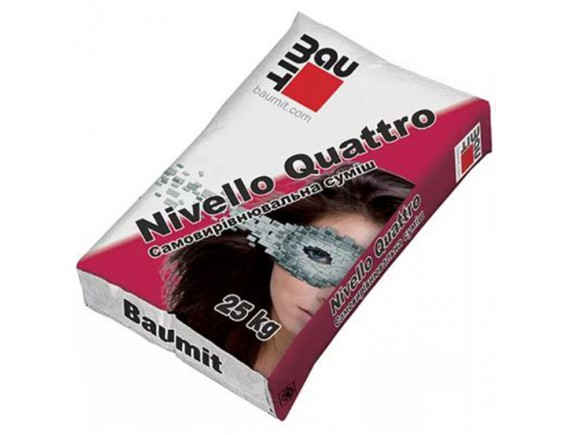Быстротвердеющая самовыравнивающаяся смесь Baumit Nivello Quattro 25 кг. (1-20мм)
