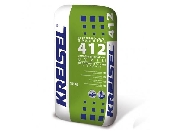 Самовыравнивающая смесь для пола Kreisel 412 Fliess-Bodenspachtel 25 кг (3-15 мм)
