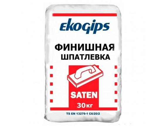 Шпаклевка финишная гипсовая Ekogips Saten 30 кг