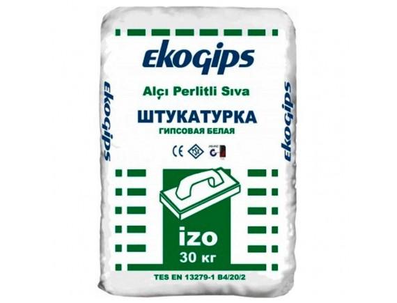 Штукатурка гипсовая стартовая Экогипс Изогипс Эко 30 кг