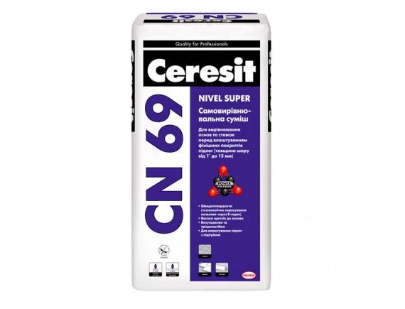 Самовыравнивающаяся смесь Ceresit CN-69 25 кг (3-15 мм)