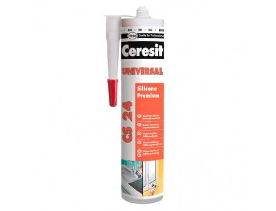Герметик силиконовый Ceresit CS 24 Silikon Universal 280 мл белый