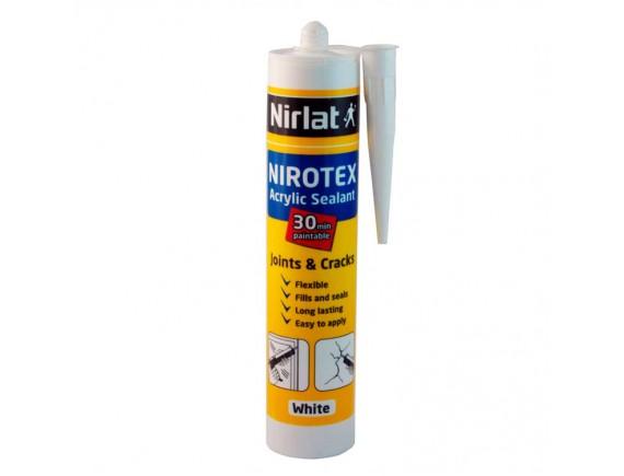Акриловый герметик Nirlat Nirotex 310 мл белый