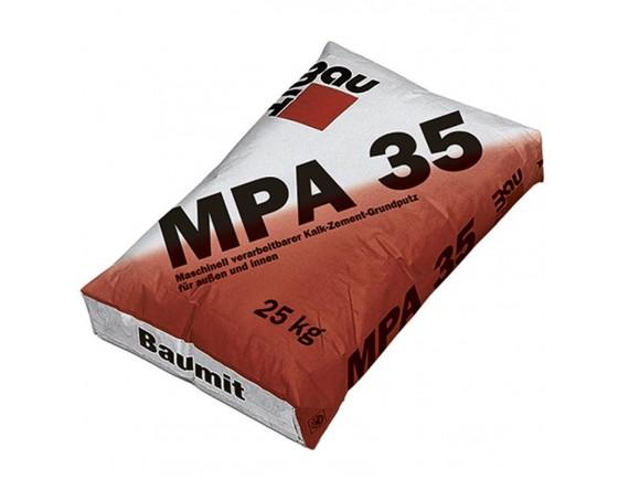 Машинная известково-цементная штукатурка BAUMIT МПА 35 25 кг
