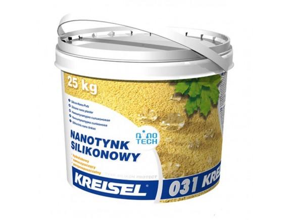 """Штукатурка нано-силиконовая """"барашек"""" зерно 1,5 мм Kreisel SILIKON PROTEKT NANOTINK 031 25 кг база В"""