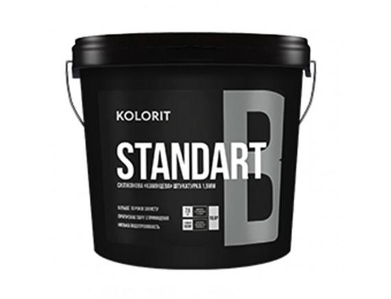 """Штукатура силиконовая """"барашек"""" зерно 1,5 мм Kolorit Standart B 25 кг"""