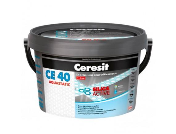Затирка для швов плитки эластичная влагостойкая до 5 мм Ceresit СЕ-40 2 кг салатовый