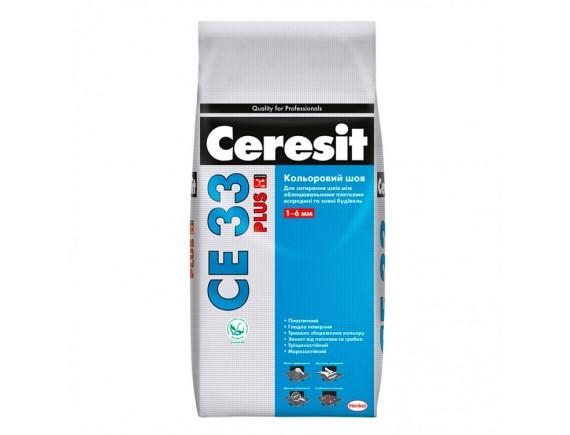 Затирка Ceresit СЕ-33 Plus 110 2 кг светло-серая