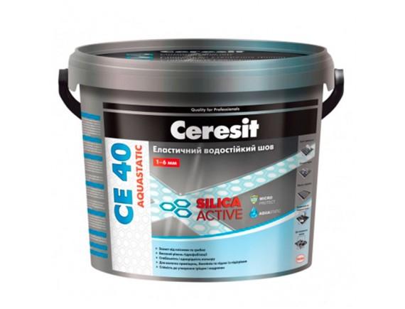Затирка для швов плитки эластичная влагостойкая Ceresit CE-40 5 кг белая