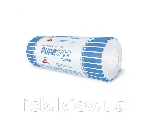 Маты теплоизоляционные URSA Pure one 37 RN(2) 6250x1200x50 мм