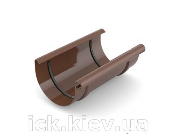 Муфта ринвы Bryza 125 мм коричневая