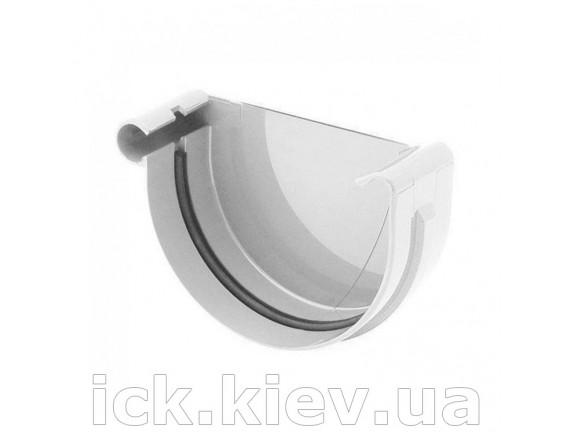 Заглушка ринвы левая Bryza 125 мм белая