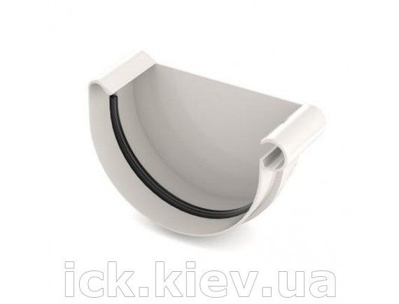 Заглушка ринвы правая Bryza 125 мм белая