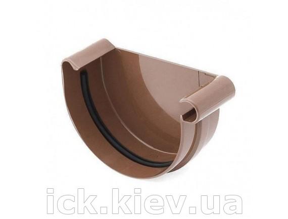 Заглушка ринвы правая Bryza 125 мм коричневая