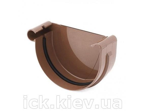 Заглушка ринвы левая Bryza 125 мм коричневая