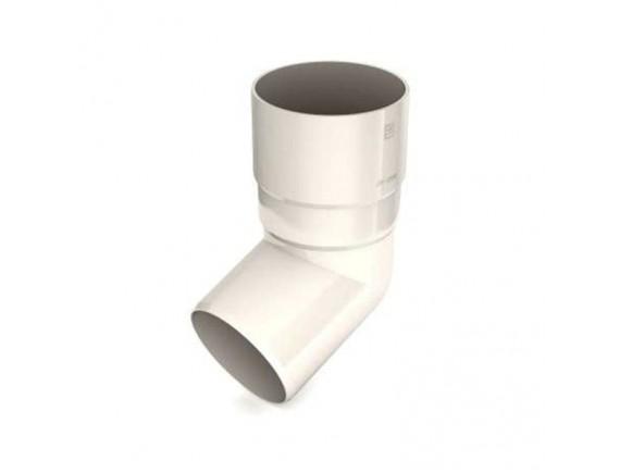 Колено 67,5 градусов Bryza 90 мм белый