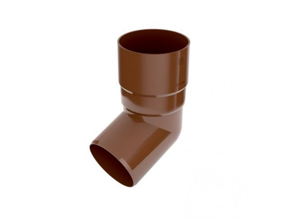 Колено 67,5 градусов Bryza 90 мм коричневый
