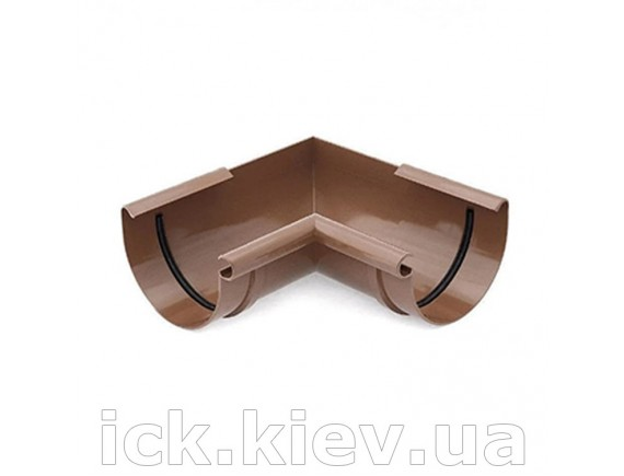 Угол внутренний 90 градусов Bryza 125 мм коричневый