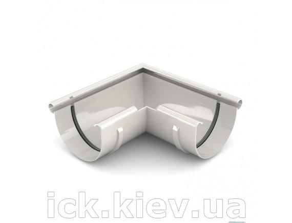 Угол внешний 90 градусов Bryza 125 мм белый