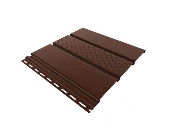 Панель перфорированная bryza 1.22 кв м коричневая 4х0.31 м