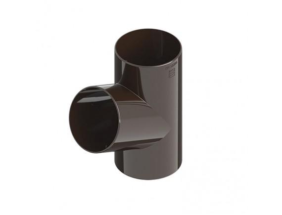 Тройник Ines 80/80/80 мм коричневый